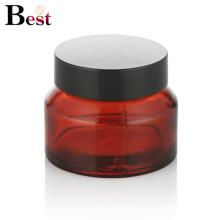 косметической упаковки 15г красный косой плеча стекло крем jar контейнер