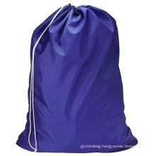 Wholesale no logo solid color large capacity custom logo nylon drawstring packaging laundry bag