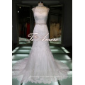 Gorgeous Decoration Elegant Superior Lace Real Sample Guipure Lace Wedding Dresses/Detachable Lace Top Muslim Wedding Dress
