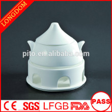 High quality hotel restaurant castle shape porcelain soup bowl tureen