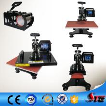 CE aprovado LCD multifuncional 4 em 1 do Sublimation Combo calor imprensa