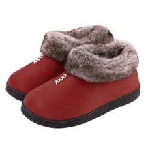 Плотные туфли из искусственной шерсти и хлопка