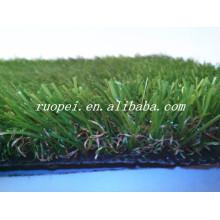 Pas cher effet de mémoire de 25mm tapis de gazon synthétique de 3 couleurs pour le décor de jardin
