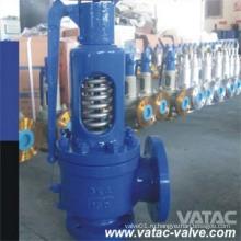 Подпружиненные стальные литые фланцевые РФ полный сопло предохранительный клапан