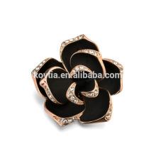 2016 тренд брошь ювелирные изделия ручной работы черная роза брошь с кристаллами для платья