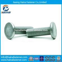 En stock Alta calidad ASME / ANSI B 18.1.1-2006 Remaches de cabeza plana Remaches de cabeza plana de acero inoxidable