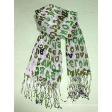 Custom long viscose cross print scarf