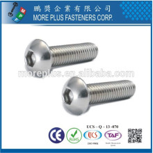 Fabriqué en Taiwan Stainless Steel ISO7380 Hex Socket Head Cap M6 Screw Head Head