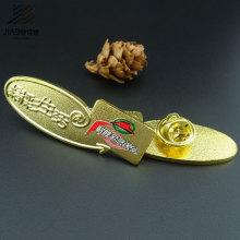 Emblema de nome feito sob encomenda chapeado ouro do metal do emblema do Pin do presente da promoção