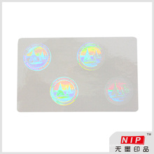 Round Transparent Hologram Labels with Authentic Background