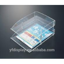 Zwei Tiers Clear Simple Design Acryl-Datei-Organizer