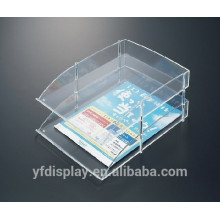 Two Tiers Clear Simple Design Acrylic File Organizer