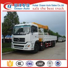 Dongfeng Kinland 8x4 grúa de camión pesado con XCMG 16 toneladas de camión montado grúa hidráulica para la venta