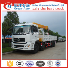 Dongfeng Kinland 8x4 heavy truck crane with XCMG 16 ton truck mounted hydraulic crane for sale