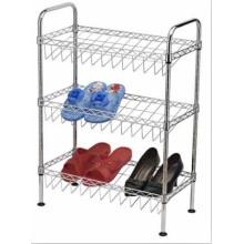 Muebles modernos DIY Knock Down ajustable rack de zapatos de alambre de metal
