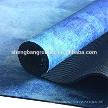 Custom full size colorful rubber yoga mat microfiber yoga mat recycled