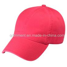 100% Хлопчатобумажная Twill Plain Washed Бейсбольная спортивная кепка (TRNB025)