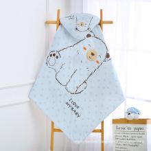100% cotton new born  bewborn baby hooded swaddle blanket balnkets  carpet