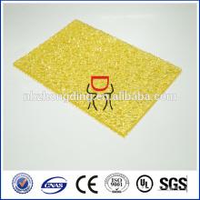 feuille en relief en polycarbonate / feuille gaufrée en diamant / feuille gaufrée en PVC