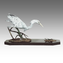 Animal Statue Bird Egret Decoration Bronze Sculpture Tpal-267
