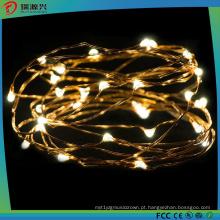 Luzes da corda do fio de cobre do diodo emissor de luz para a celebração do festival