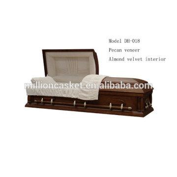 Régimes privés cercueil placage de noix de pécan
