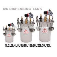 tanque de pressão de aço inoxidável 2L 10L 20L 40L para dispensador de cola