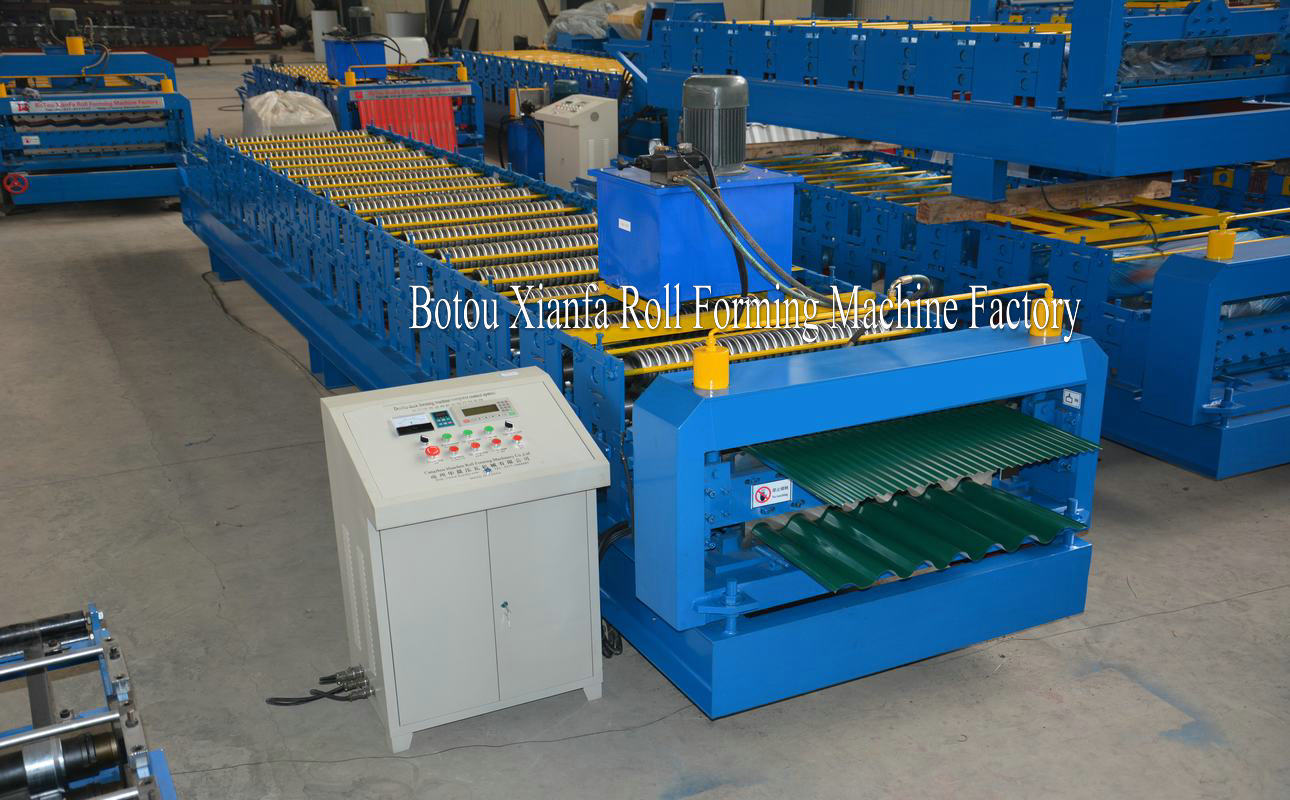 wave wall roll forming machine
