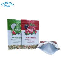 Os sacos de empacotamento super personalizados do granola do alimento levantam-se o malote com zíper