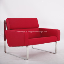 Red Kaschmir Stoff Lounge Sofa