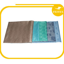 Vente en gros Shadda Brocade Nigéria Style Coton Polyester Africain Bazin Riche Tissu