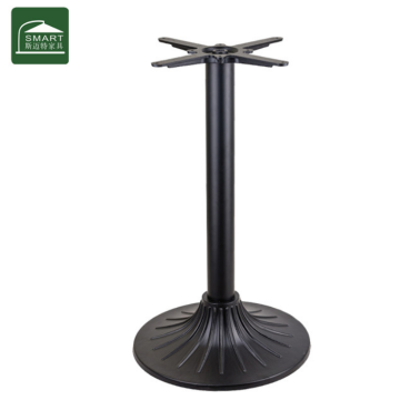 round metal table base