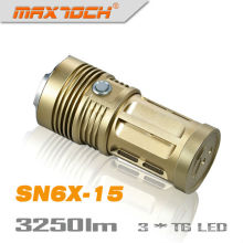 Maxtoch SN6X-15 3*Cree T6 3250 Lumen Bronze 4*18650 Batteries Flashlights