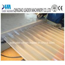 Linha de produção ondulada plástica da folha do telhado das ondas redondas do PVC PP