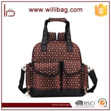 Multifunctional Fashion Mummy bag Baby Diaper Backpack