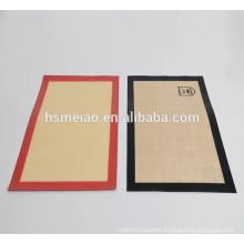 Non-stick surface silicone baking mat set, 16 5/8'' x 11''
