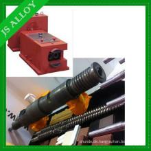 Untersetzungsgetriebe für konisches Doppelschneckengehäuse 65/132