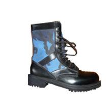 Botas militares da selva Camo com couro de alta qualidade