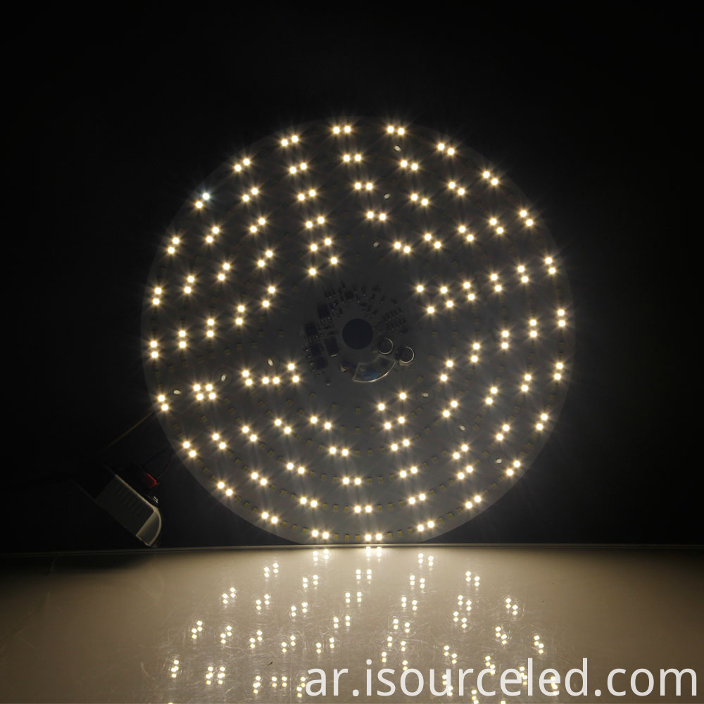 Colorable smd 2835 Round 40W AC LED Module dimming effect diagram
