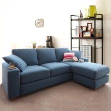 Sofá de tecido lavável de canto de sala estilo Janpanese lazer de sofá secional