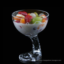 Ice Cream Glass, Glass Ice Cream Sundae Cups,Unique -footed Ice Cream glass Container