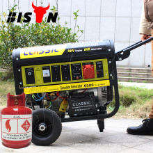 Inicio automático de CHINA CLÁSICA, precio competitivo Generador de gas natural, fácil movimiento con ruedas Generador de gas natural de 5KW