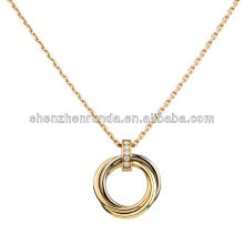 Nuevo producto caliente para 2014 alto collar pulido de la manera del collar del acero inoxidable
