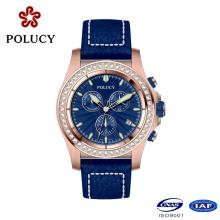 Watch Factory personnalisé luxe Slim Mens Pierre montres chronographe