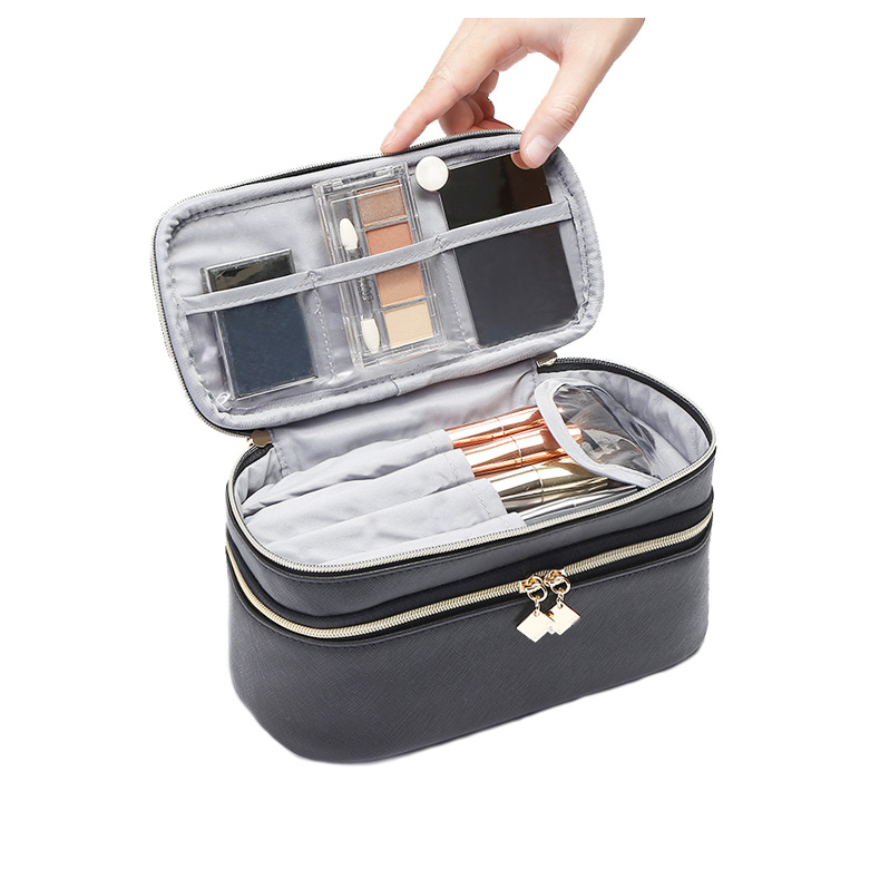 Double Layers Cosmetic Bags Makeup Bags