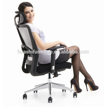 X1-02B office chair with footrest mesh chair swivel chair