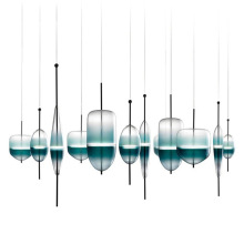Bule Glass  Pendant Lamps