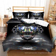 3D Printed Bedding Set, Suitable for Duvet Cover Set, Diamond