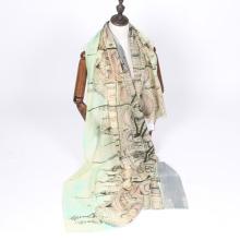 Новое прибытие трафаретная печать женские летние шерстяной шарф