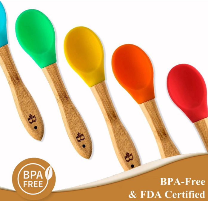 Silicone Bamboo Spoon